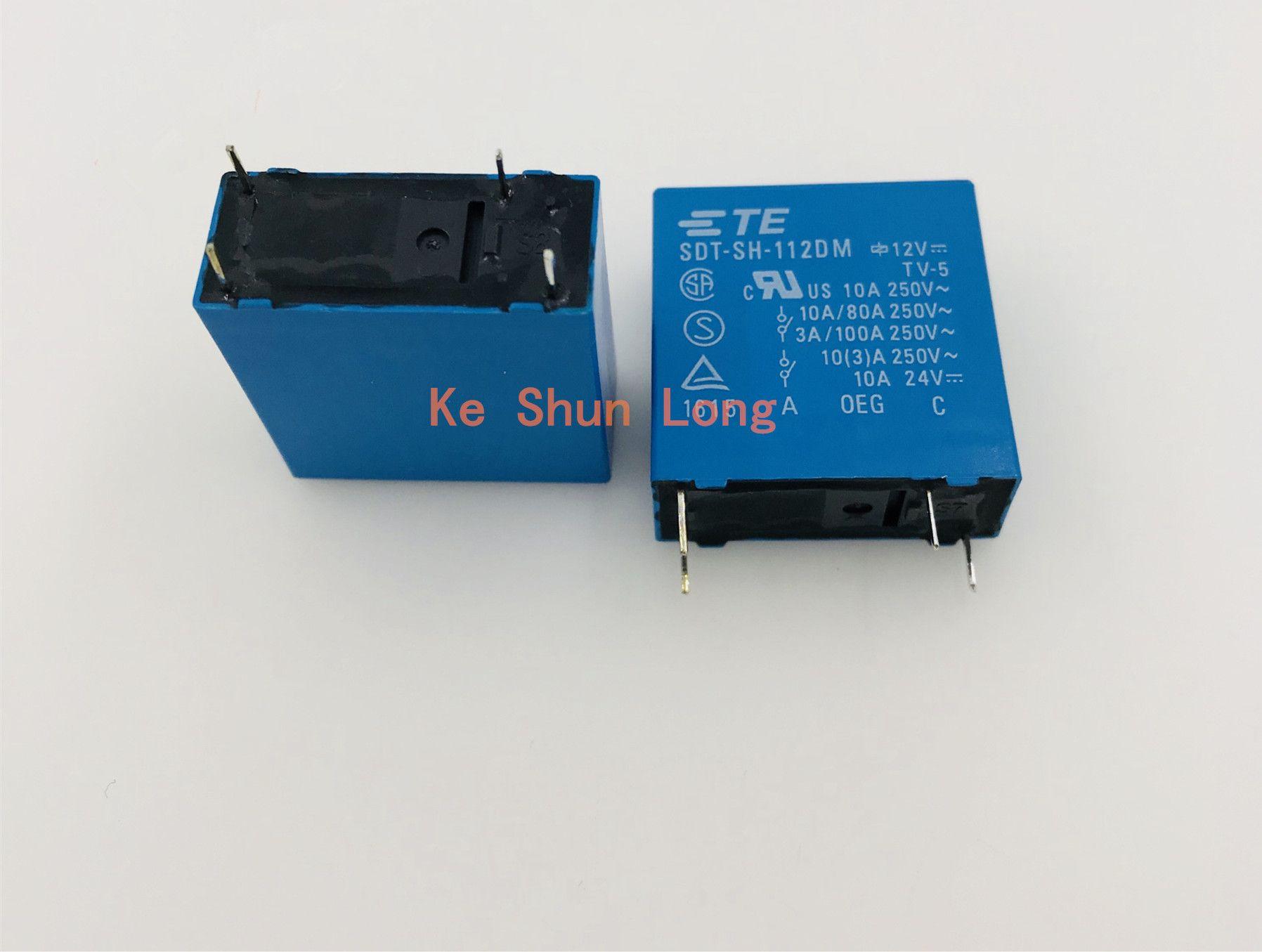 무료 배송 로트 (5 pieces / lot) 100 % 기존 TE TEK OEG SDT-SH-112DM 12VDC SDT-SH-124DM 24VDC 4PINS 10A Power Relay