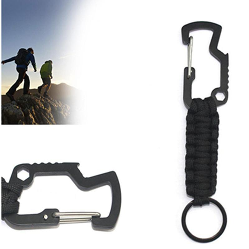 Survival Lanyard Keychain Seven-core umbrella rope Backpack Carabiner Outdoor sports 4 colors Woven Lanyard Keychain Survival Tools
