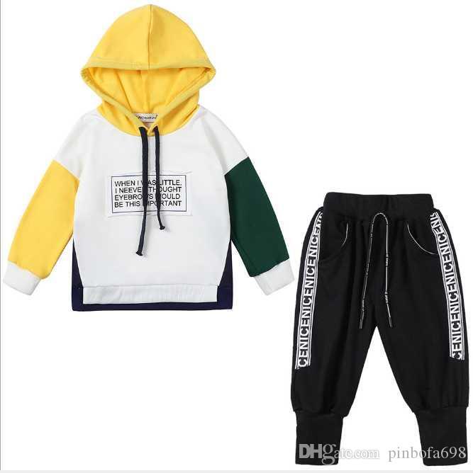 Bebek Erkek 0-3 Yıl Kızlar Takım Elbise Marka Eşofmanlar 2 Çocuk Giyim Seti Sıcak Satmak Moda İlkbahar Sonbahar Çocuk Elbiseleri Uzun Kollu Kazak