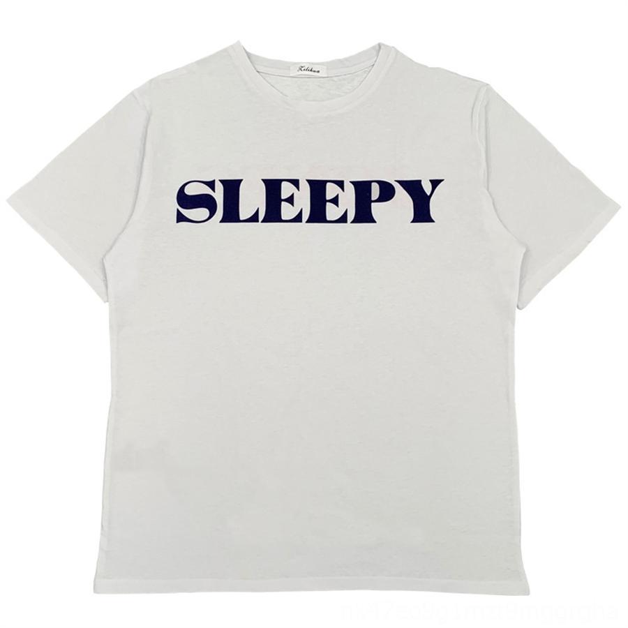 2020 piccolo speciale stile di base a maniche corte casuale allentata puro cotone cotone T-shirt T-shirt con lettere diverse