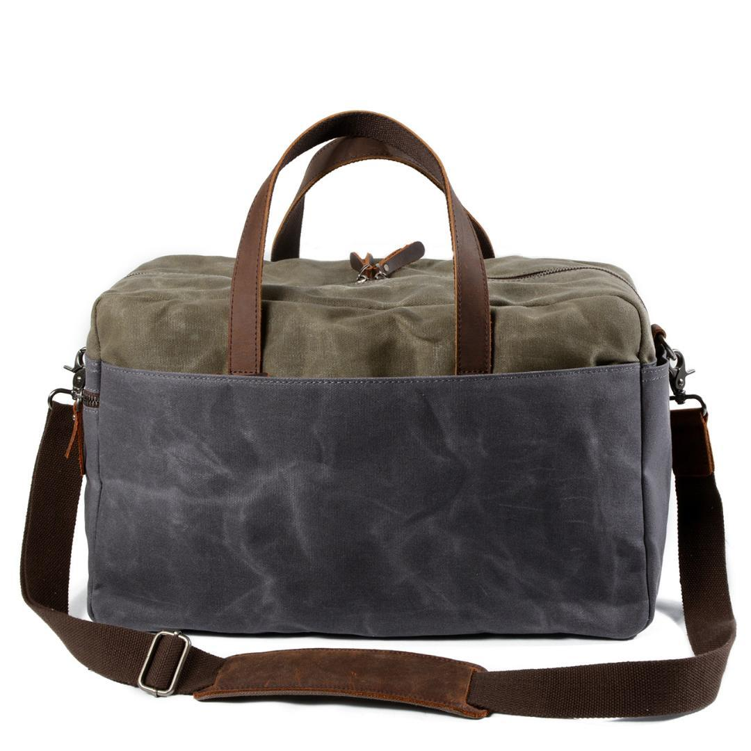 Canvas + Real Cow Leather Travel Bag Men Duffel Bag Big Carry on Luggage Weekend Large Waterproof Shoulder Totes for Work