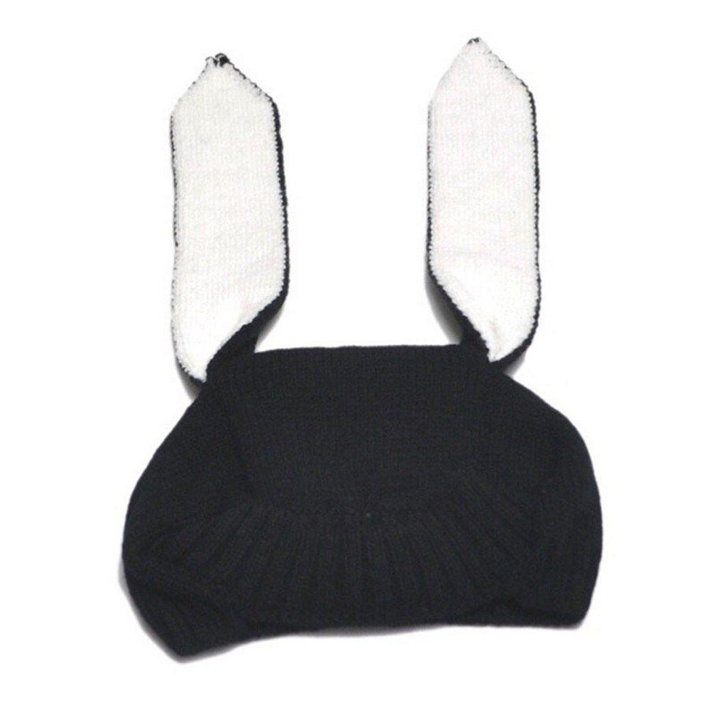 Sonbahar Kış Yürüyor Bebek Örgü Bebek Şapka Sevimli Yumuşak Tavşan Uzun Kulak Tavşan Şapka Bebek Bunny Beanie Cap Fotoğraf Dikmeler