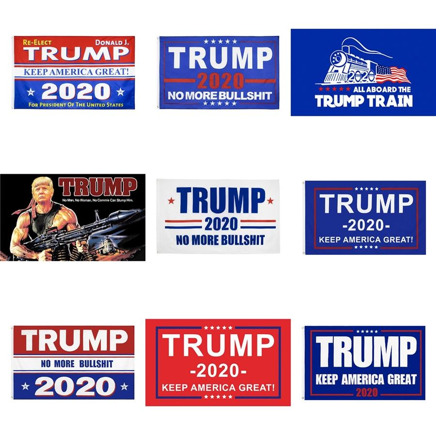 Decor Banners 90*150Cm Great Trump 8 Colors Keep America Banner Trump Flag Hanging 3X5Ftmeow #364