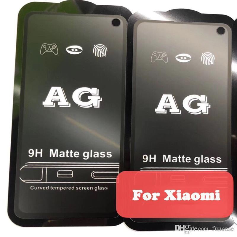 Pantalla AG Mate 9H Dureza curvo de cristal templado de la película protectora para Xiaomi MI 9 SE 8 Lite Mix 3 F1 redmi Nota 7 6 Pro 6A Ir S2 K20