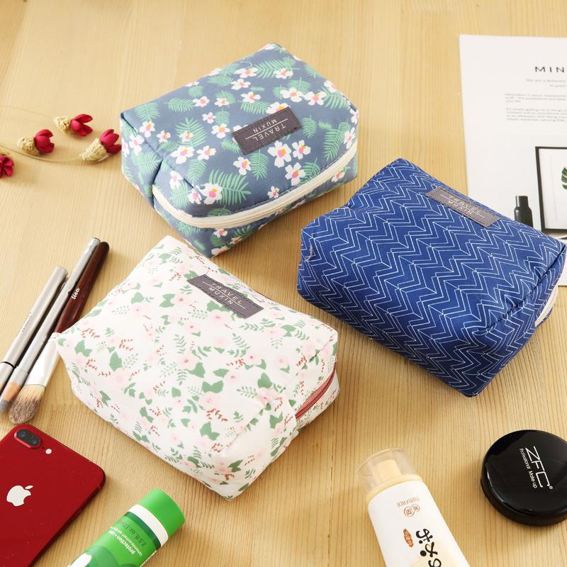 Travel Cosmetic Bag Wash Bags Durable Collapsible Clutch Storage Bag Zipper Makeup Bag Women Portable Print Cosmetic Bags Cases DBC BH1232