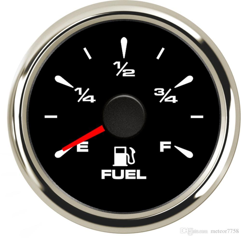 Digital Fuel Gauge 52mm 0-100/% Fuel Level Gauge 240-33ohm for Auto Red Backlight