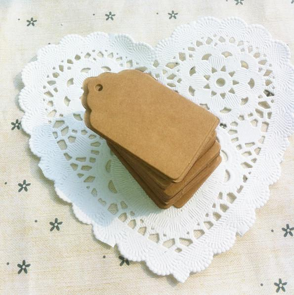 Square Tag Listing Blank Kraft Paper Baking Tag Mark Card Name Card Hand-painted Products Wedding Party Decoration Wedding Decor