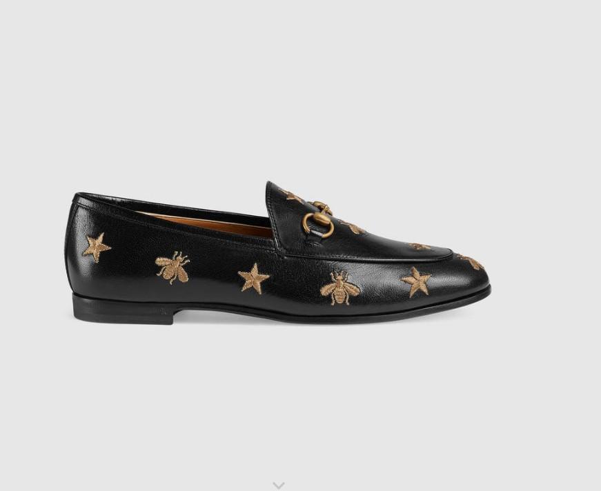 Chaussures en cuir Jordaan en gros en cuir de vachette chaussures femme Broderies étoiles Mocassins à semelle plate laday meurtrière