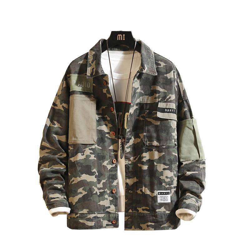 Chaqueta de aviador Hombres Camuflaje Chaqueta de primavera otoño Cazadora japonesa Streetwear Abrigo Ropa de marca Prendas de abrigo