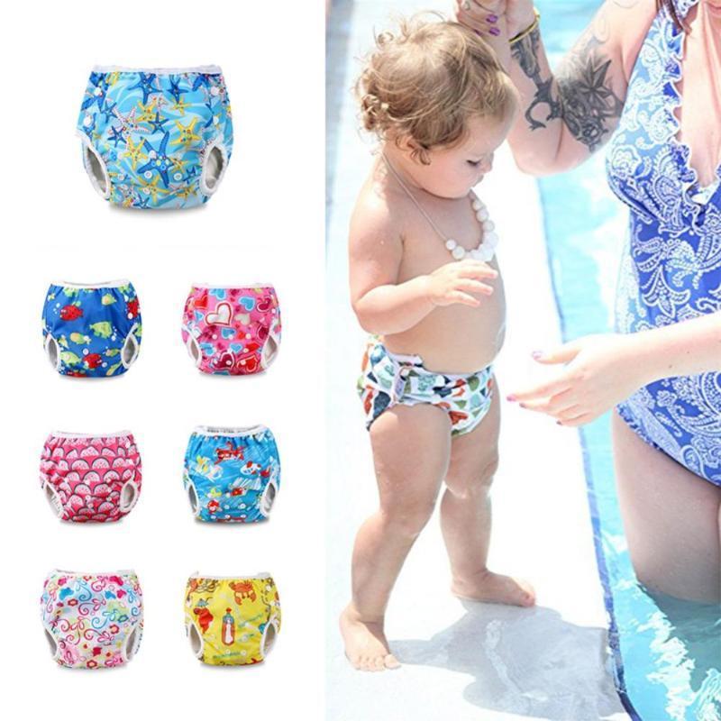 Bebek Swim Bezi Su geçirmez Ayarlanabilir Bez Bebek Bezi Havuz Pant Yüzme Bezi Kapak Yeniden Yıkanabilir Bebek Bebek bezleri