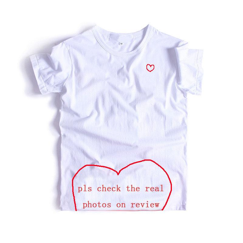20s T-Shirt Mens Fashion roter Herz-Liebhaber Bedruckte T-Shirt für Herren Hip-Hop-Solid Color Short Sleeve Frauen Spitzen T-Shirts