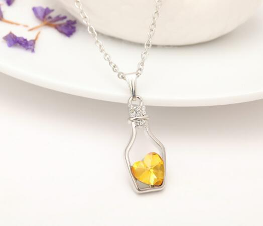 Dichiarazione di amore cristallo del pendente poco costoso diamante della lega di modo-s collana maglione della collana Locket gioielli di moda regalo di Natale