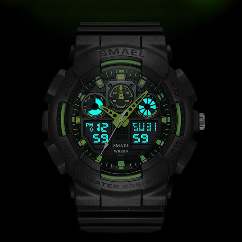 Erkek Spor LED Dijital Erkek ClockWristwath Mens izle üst marka lüks relógios Masculino Montre Homme WS1027