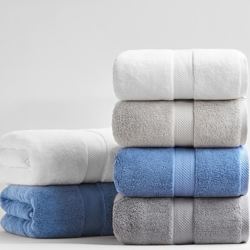 Épaissie 100% coton Serviette de bain 80 * 160cm 800g luxe serviette adultes plage salle de bain supplémentaire Grand Sauna pour la maison Serviette Hote