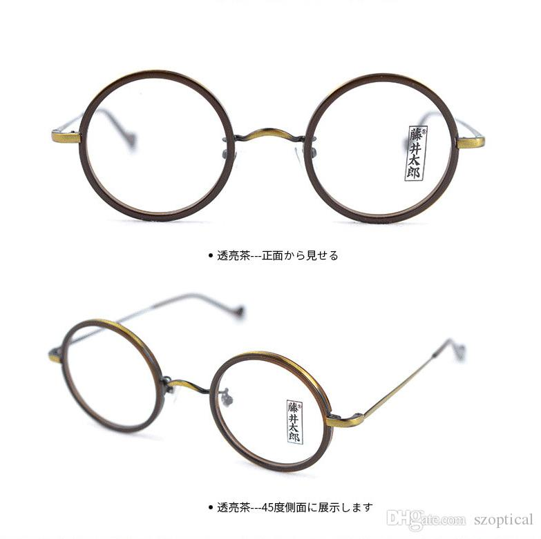 Brand Japan desgin small round retro vintage men acetate Spectacle frame Myopia Designer Glasses prescription clear lens eyeglass FT2281