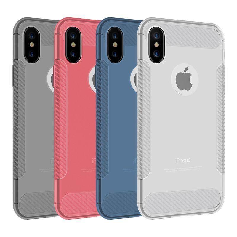 Para iphone xs max xs 8 7 telefone móvel case translúcido fosco capa protetora de silicone tpu case frete grátis