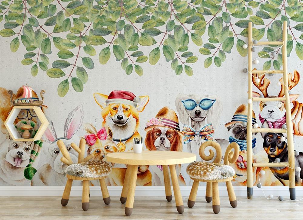 [Autoadhesivo] Perros 3D 888 Mural de papel de pared Wall Print Decal Murals