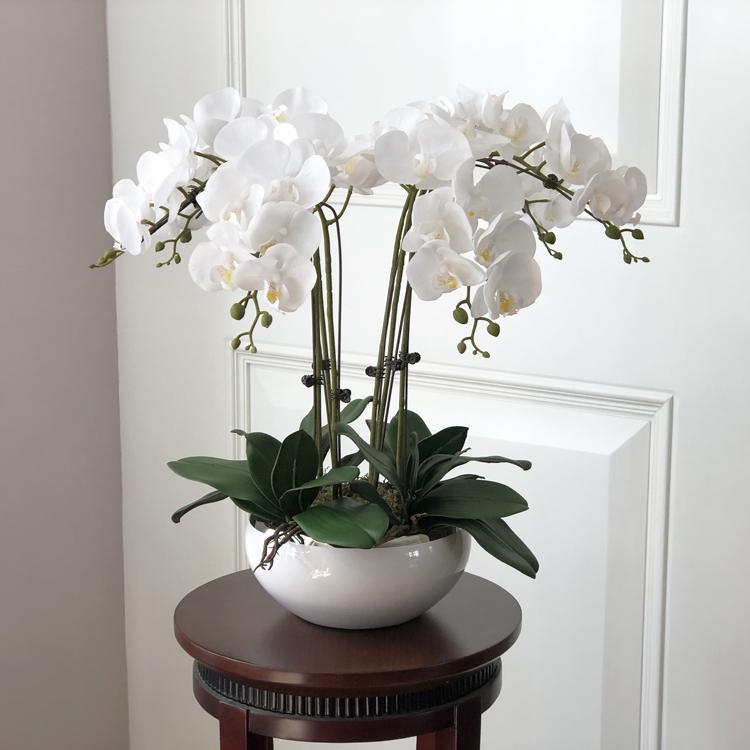 Compre 1 Juego De Arreglos Florales De Mesa De Sensación De La Mano De Orquídeas De Alto Grado Sin Jarrón Q190522 A 5659 Del Yiwang08 Dhgatecom