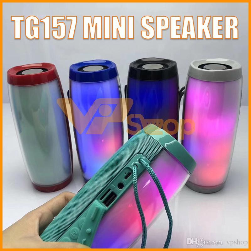 Portable TG157 LED Lamp Speaker Waterproof FM Radio Wireless Boombox Mini Column Subwoofer Sound Box MP3 USB TV Sound Bar