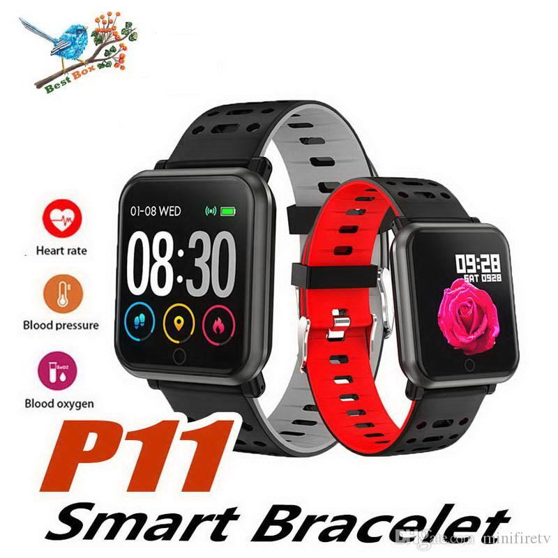 2019 P11 Montre Intelligente Hommes Femmes Pour Apple Watch Android Téléphone Étanche Moniteur de Fréquence Cardiaque Pression Artérielle Sport Smartwatch