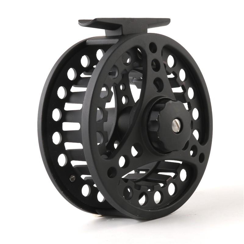 2+1BB Ball Bearing Fly Reel Aluminum Alloy Spool 85MM Weights 5/6 7/8 WT Die Casting Fly Fishing Wheel Left/Right Handed Black