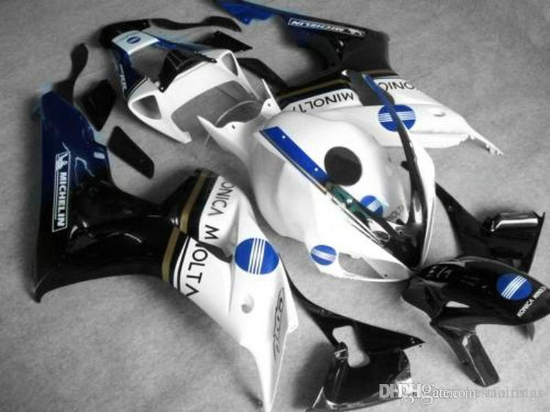 Hot sale Fairings for Honda CBR1000RR 2006 2007 white black Injection molding fairing kit CBR 1000 RR 06 07 df34
