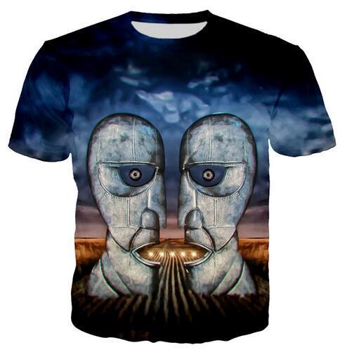 El más nuevo diseño para mujer / hombre The Division Bell Funny Mangas cortas 3D Imprimir camiseta Unisex Summer Style Casual T-shirt