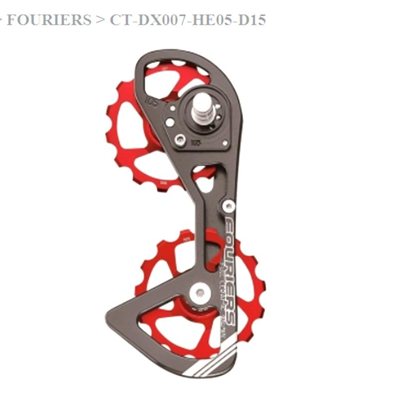 Road bicycle rear derailleur pulleys 15T-15T ceramic bearing jockey wheels fit for 5800 after derailleur bike parts