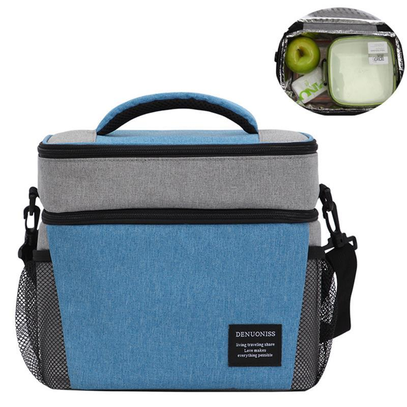 Designer-Lunch Bag Thermal Insulated Bag Kinder Frauen Männer lässig Cooler Thermo-Picknick-Mittagessen-Kasten Oxford Handtasche