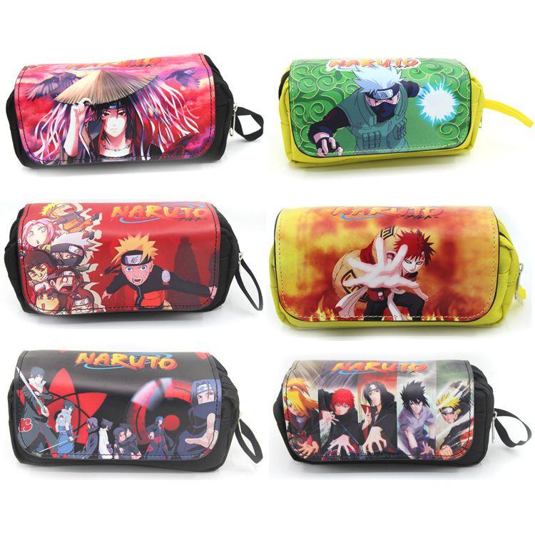 Bolsa cosmética de dibujos animados Bolsa con cremallera Bolsas de maquillaje Naruto / Tokyo Ghoul / Attack on Titan / Estuche de lápices de gran capacidad