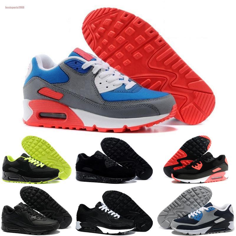 Nike air max 90 2020 Neue Schuhe Männer und Frauen Schuhe Schwarz Rot Weiß Trainer Kissen Oberfläche atmungsaktiv Freizeitschuhe 36-45