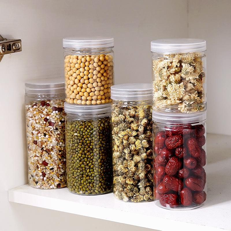 Food Storage Cereal Container Air Tight Canisters With Bamboo Lids Glass Jars Kitchen Storage Containers