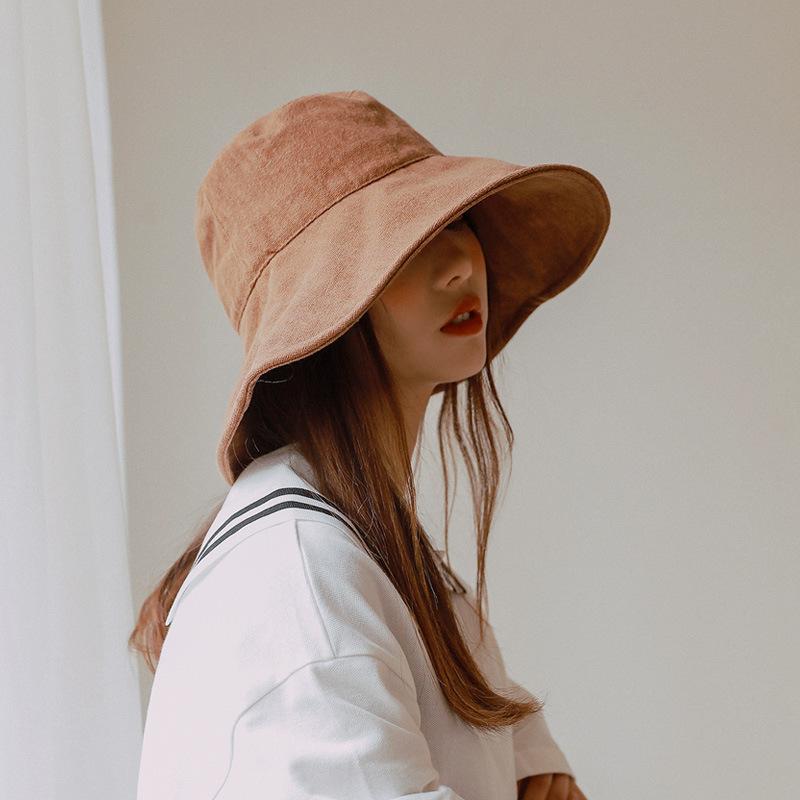 Ковш шапка с Струнным Summer Sun Шляпой для женщин Открытой Складной Панамы Женской Bucket Хаки 2020 Повседневный Fisherman