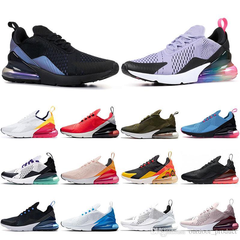 Nike 270 air max 270 VM 27C Zapatillas de tenis Cojín para correr FUTURO Indigo Azul BARELY ROSE Rosa Triple Blanco Completo Negro Zapatillas de