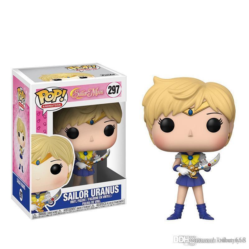 LXH TF Nouvelle arrivée Funko POP Anime Cartoon PVC Doll Enfants 10cm Sailor Moon Uranus Figurine modèle Collection jouet pour fille cadeau de Noël
