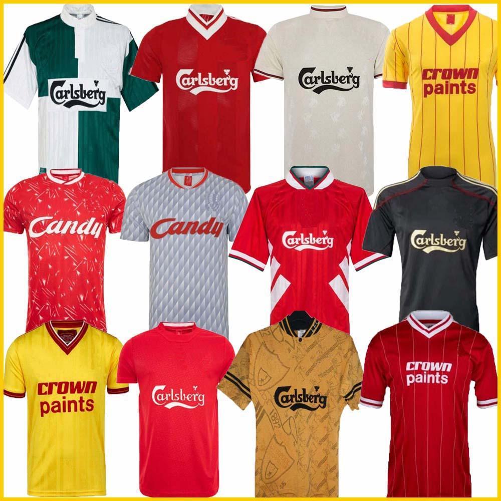 04 05 retro do futebol Jersey Gerrard 1982 FOWLER Dalglish 10 11 camisas do futebol TORRES 1989 Maillot 85 86 Kuyt 08 09 SUAREZ 1995 93 McManaman