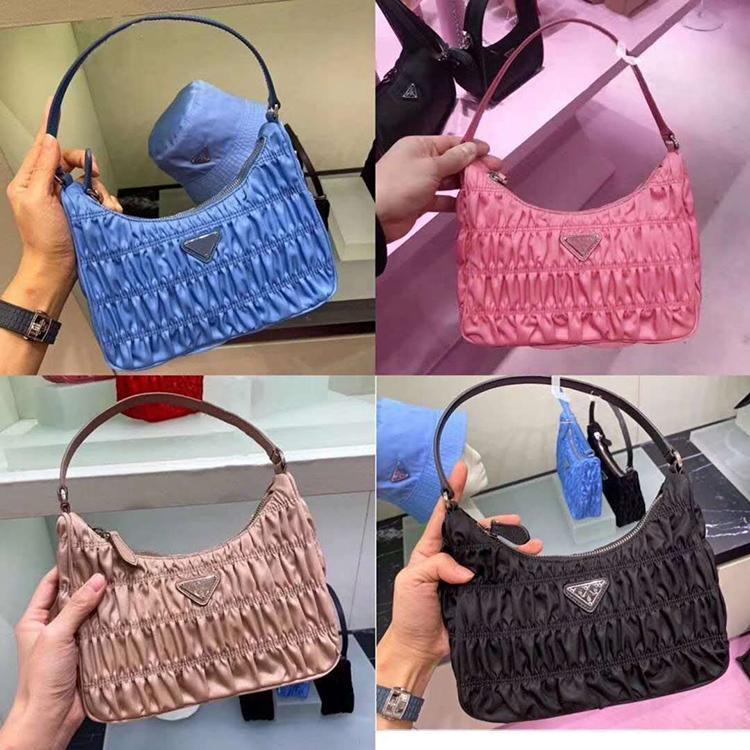 sacs hobo en vente avec sac sac à poussière en nylon froncé femme seule épaule