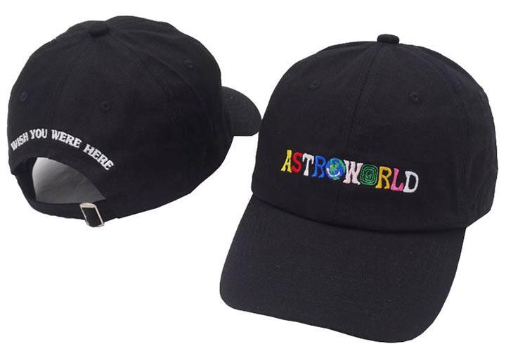 Estrenar al aire libre del visera Travis Scott Strapbacks sombreros 6 Panel de hombres y mujeres del sombrero del Snapback AstroWorld gorra de béisbol AstroWorld papá