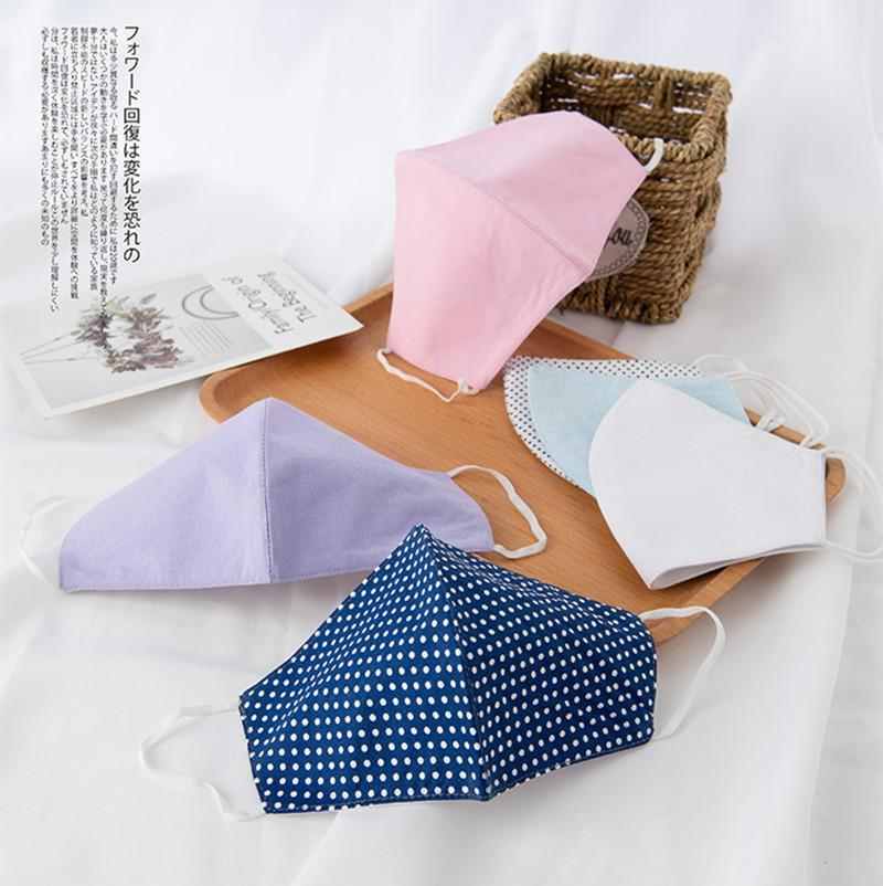 Fashion Cotton Face Mask Men Women Anti-Dust Breathable Masks Spring Summer Thin Mouth-muffle Unisex Design Face Mask 6 Colors 2020 Gifts