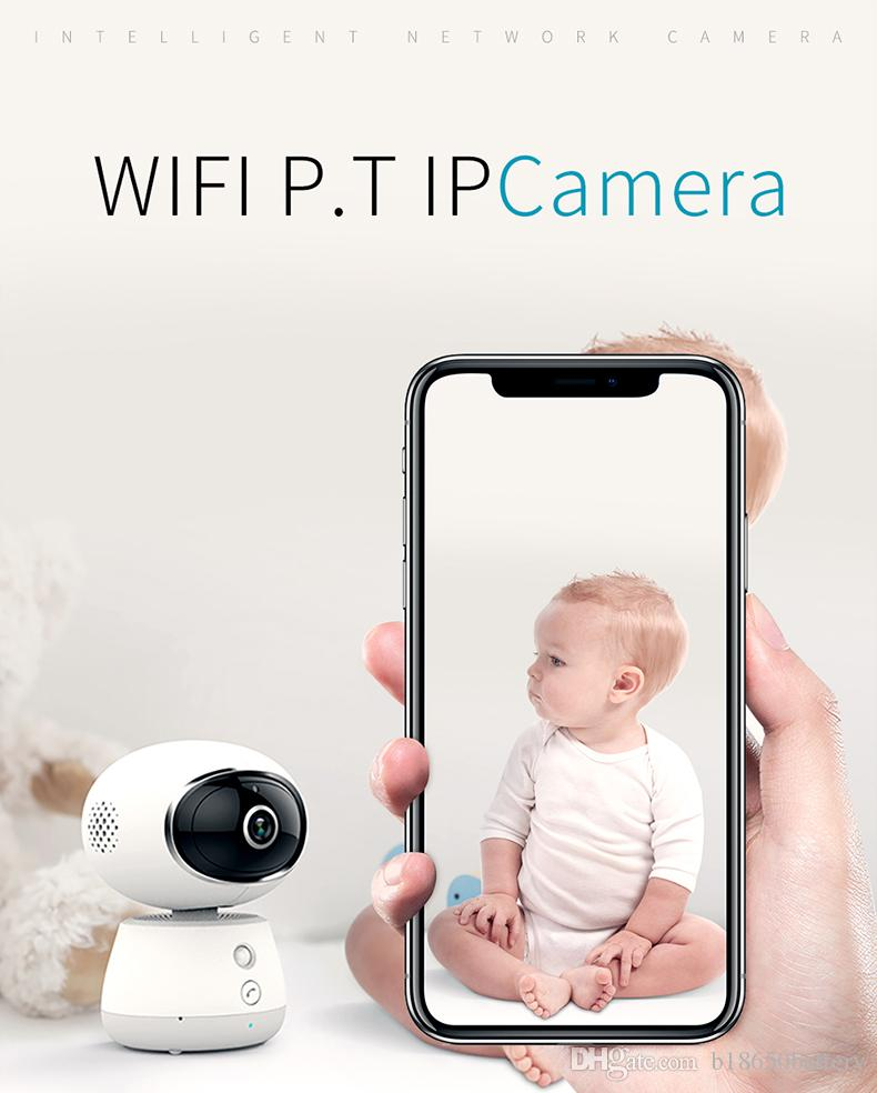 2019 Home baby monitor ip surveillance smart robot camera with 3D panoramic degrees by wifi VR 1080p HD 2.0mp