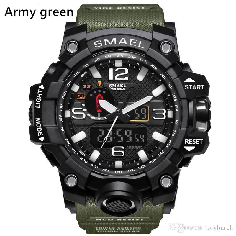 جديد سمائل الرجال relogio في الساعات الرياضية، الصمام ساعة اليد كرونوغراف، ومشاهدة العسكرية، وساعة رقمية، هدية جيدة للرجال صبي، دروبشيب