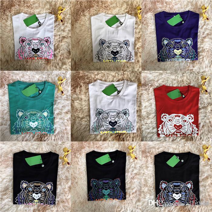 20ss Tiger head Camisetas Moda de lujo Mujeres Hombres Diseñador Camiseta negro blanco rojo diseñador de moda para hombres Camiseta tops manga corta S-3