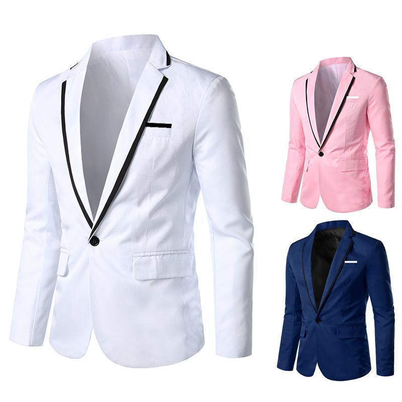 Brand New Men Blazer 2020 vestiti casuali di feste di nozze uomini dimagriscono il rivestimento adatto Male Plus Size M-3XL Blazer Masculino