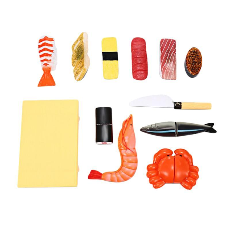 Cartoon Simulation Toy Plastic Japanese Sushi DIY Kitchen Smart Toy Suitable for Kid Children Gifts Hand-made Tools