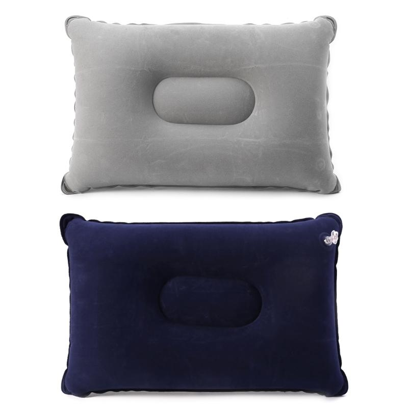sleeping bag Hot sale Folding Flocking Air Inflatable Pillow Camping Travel Airplane Sleep Cushion Pad Collapsible sofa hammock