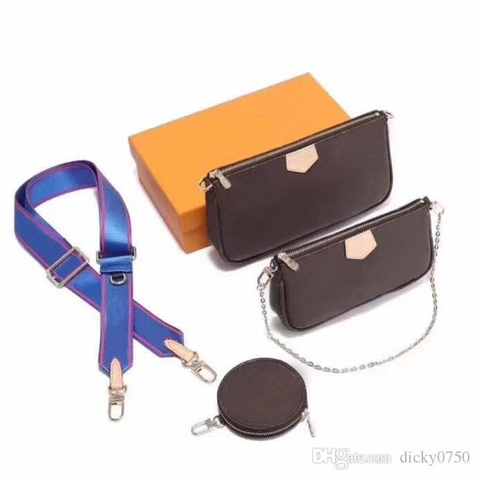 Novas Bolsas de Ombro conjunto purs três peça clássica bolsas femininas de couro bolsa de mensageiro saco senhora bolsa saco de corpo cruz bolsa pacote de senhora