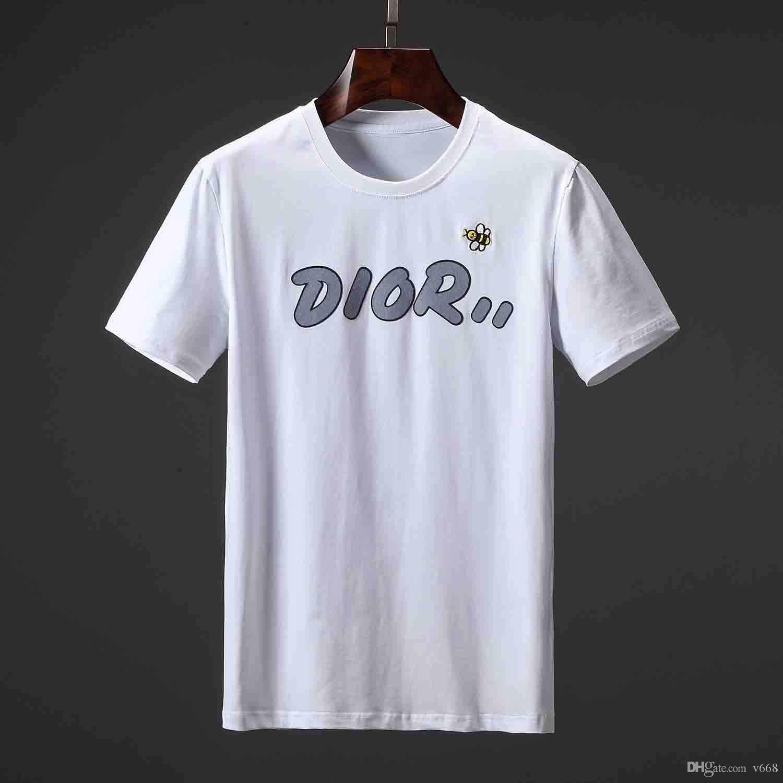 19ss DQ Yaz Yeni Varış En Kaliteli Tasarımcı Giyim erkek Moda T-Shirt Medusa Baskı Tees Boyutu M-3XL
