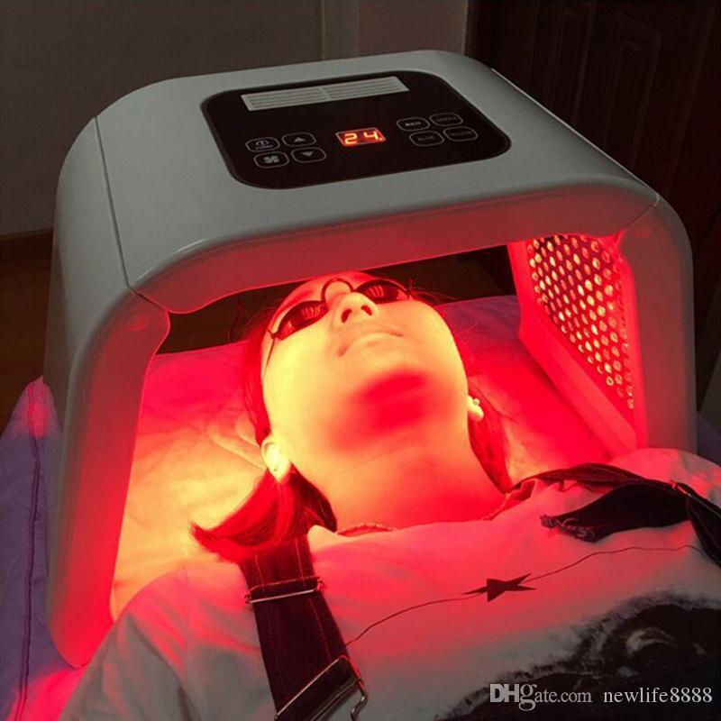 جديد 7 ألوان PDF أدى ضوء قناع الوجه قناع العلاج لمكافحة حب الشباب تبييض ماسكارا ادى الوجه Fototerapia Phototherap DHL الشحن مجانا