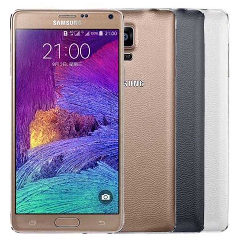 الأصلي سامسونج غالاكسي ملاحظة 4 مجدد Note4 N910F N910A N910V N910T 5.7 بوصة رباعية النواة 3GB RAM 32GB ROM 4G LTE الروبوت الهاتف DHL 1PC