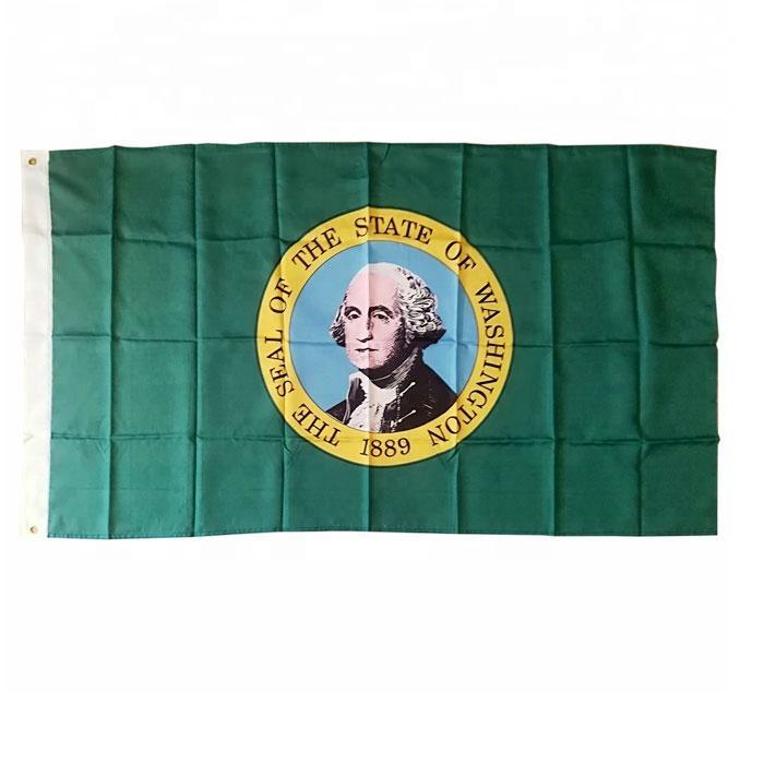 3x5 Custom US Washington Drapeau Hanging Publicité 100% polyester, Drapeaux en plein air intérieur, Faites vos propres drapeaux, Livraison gratuite